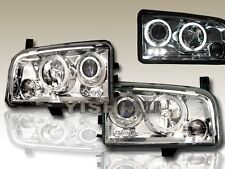 2006-2008 DODGE CHARGER LED DUAL HALO CCFL CHROME PROJECTOR HEADLIGHTS