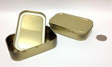 5 x Metal Tobacco 1oz Tins with Seal- Small,Camping, Sewing, Survival, cigarette