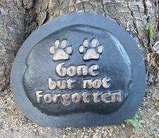 Plastic pet rock memorial  mold plaster concrete mould