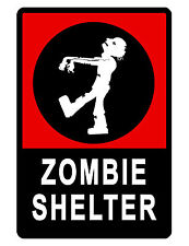 PERSONALIZED ZOMBIE ROOM SIGN DURABLE ALUMINUM NO RUST FULL COLOR CUSTOM SIGN129