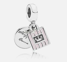 Authentic Pandora Sterling Silver 791985EN40 Shopping Queen Dangle Charm