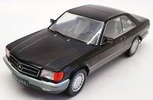KK Scale 1/18 180334 - 1985 Mercedes Benz S-Class 560SEC (C126) Coupe - Black