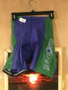 "Voler women's size S cycling shorts ""Sunflower fine organic cuisine"""