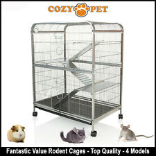 Cozy Pet Rodent Cage for Rat, Ferret, Chinchilla, Degu or other Small Pets RC01