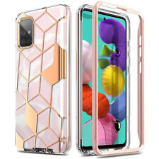 Samsung Galaxy A51 Case,Hybrid Full Body Scratch Resistant Protective Cover Pink