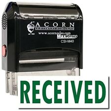 MaxStamp - Large Self-Inking Received Stamp (Red Ink)