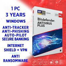Bitdefender Antivirus Plus 2020 1 PC 3 years, FULL EDITION, ACTIVATION KEY + VPN