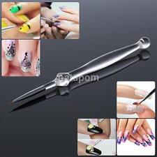 Short Hair Nail Art Liner Brush Ultra-thin Line Drawing Pen Crystal Handle Brush