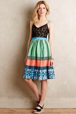 NWT - ANTHROPOLOGIE - TRACY REESE Fractal Flora Petite Dress 2P Green Motif $278