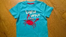 BNWOT Mothercare Turquoise Blue Little Nipper Red Crab T Shirt 2-3 y 92-98 cm