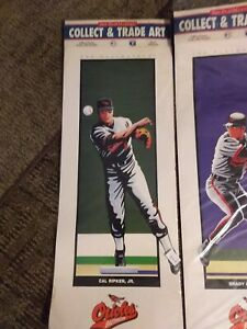 Cal Ripken, Jr. 1993 The PlayMakers Collect & Trade Art ORIOLES MLBPA Licensed