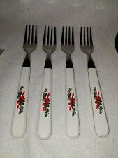 PFALTZGRAFF Christmas Heritage Stainless Flatware Silverware 4 Dinner Forks