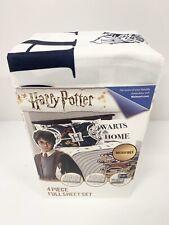 Harry Potter 4 Piece Full Size Sheet Set Microfiber New Free Shipping
