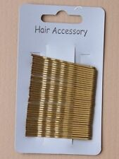 36 GRIPS KIRBY gold hd831  HAIRDRESSING HAIR CLIPS SLIDES BOBBY SCHOOL dance