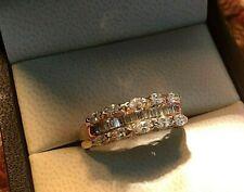 Diamond Ring Size 9 ~*~*~*~*~* Sparkling Solid 14K Genuine