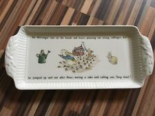 Vintage Wedgwood Beatrix Potter Peter Rabbit Sandwich Tray