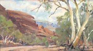 """Dermont James John Hellier (Aust 1916-2006) """"Untitled Landscape"""" Oil on Board"""