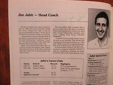 1988-89 Siena Women's Basketball Media Guide(17 Signed/w/JIM JABIR/SHAWN SHAFER)