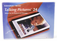 Sharper Image Talking Pictures 24 Electronic Digital Picture Frame, Red. NEW!