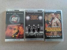 Lot of 3 PSP UMD Movies GONE IN 60 SECONDS, FRIDAY NIGHT LIGHTS, THE RUNDOWN