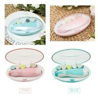 Electric Cute Baby Toddler Nail File Safe Clipper Trimmer Cutter Nail Care Set
