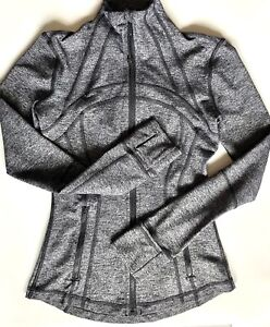 Lululemon Define Jacket Heather Black Gray Full Zip Athletic Women's Size 2