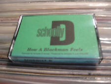 SCHOOLLY D CASSETTE TAPE HOW A BLACKMAN FEELS DEMO PROMO RAP HIP HOP OLD SCHOOL