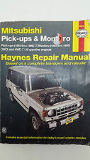 Haynes No 68040 Mitsubishi Pick Up & Montero 2WD 4WD Petrol Engine Repair Manual