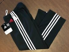 WAS $126.95 NWT! ADIDAS GK ELITE BLACK DRY TECH WARM UP PANTS SIZE CHILD S