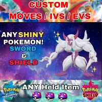 TEAM OF 6 POKEMON SWORD AND SHIELD ANY ✨SHINY✨ CUSTOM POKEMON (FAST DELIVERY)