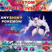 Any CUSTOM ✨Shiny✨ Pokemon 6IV Battle Ready for Pokemon Sword and Shield!!