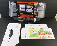 """3 Rare """"For Display Only"""" Nintendo BOXES ONLY Wii Nunchuk; 3DS Animal Cross SNES"""