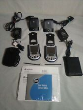 Lot of 2 Palm Pilot m130 Blue Handheld Pda in Cases w/Charging Docks