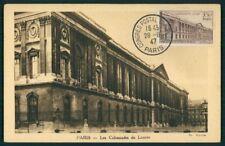FRANCE MK 1947 UPU PARIS LOUVRE MAXIMUMKARTE CARTE MAXIMUM CARD MC CM af10