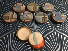 Beautiful French Art Deco unused foundation compacts-Set of 8