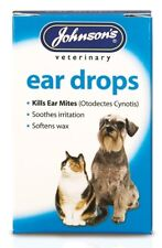 Veterinary Ear drops Johnson's for Dog Cat Pet 15 ml Cleaner Relief Wax Mites