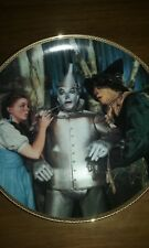 """""""The Tin Man Speaks"""" Wizard of Oz Plate Collection 50th Anniversary MIB COA"""