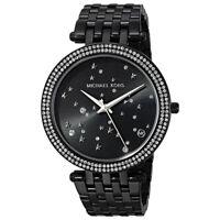 100% New Michael Kors MK3787 Darci Black Dial Stainless Steel Women's Watch 39mm