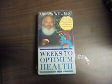 """USED  VHS Movie """"8 weeks To Optimum Health""""   (G)"""