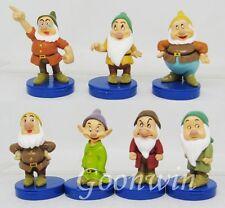 Set 7tlg Die sieben Zwerge Sammelfiguren mit Base Spielzeug Dekoration 6-7cm
