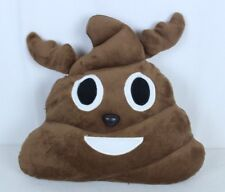 "Poop Emoji Pillow Brown Plush Toy Appx 13 x 15"""