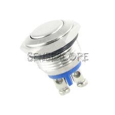 Einbauschalter Schalter Druckschalter 16 mm max 250V/3A Edelstahl Switch