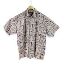 Tori Richard XL Cotton Hawaiian Shirt Paisley Men's Short Sleeve