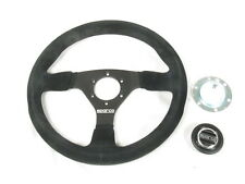 Sparco R383 Steering Wheel 330mm Black Suede 39mm Dish w/ Thick Anatomic Grip