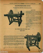 1920 PAPER AD Challenge Wood Saw Sawing Outfit Swing Table Timber Lumber Mill