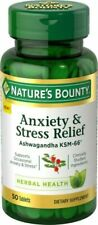 Nature's Bounty Anxiety and Stress Relief Contains Ashwagandha Tablets - 50 Count
