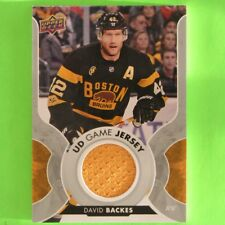 DAVID BACKES 2017-18  UD GAME JERSEY  #GJBA   Boston Bruins