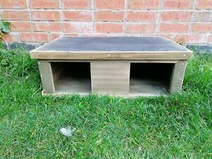 Large Wooden Hog House Hedgehog Wood Hedge Hog Hibernation Home Shelter Lodge