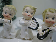 Vtg Napco Norcrest ERA CHRISTMAS ANGELS WITH MUSICIAL INSTRUMENTS
