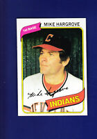 Mike Hargrove 1980 TOPPS Baseball #308 (MINT) Cleveland Indians